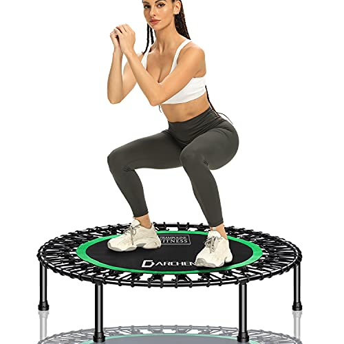 DARCHEN 400 lbs Rebouonder Trampoline for Adults, Mini Trampoline for Adults Indoor Exercise Workout...