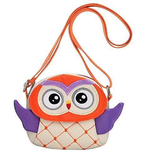 Children's Cute Cartoon Owl Shoulder Bag Messenger Wallet Mini Cartoon Animal Preschool Messenger Children's Handbag Baby Girl