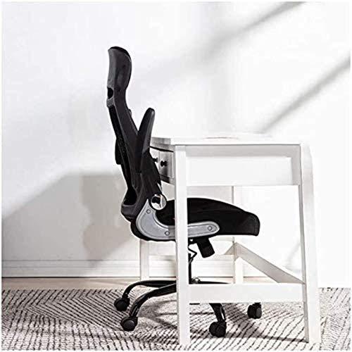 YONGYONGCHONG Silla de oficina ergonómica para escritorio, silla de juegos, silla de oficina de respaldo alto, cómoda sedentaria, (tamaño: reposabrazos giratorios negro)