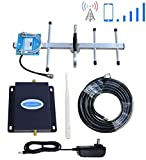 AT&T Cell Phone Signal Booster 4G LTE 700Mhz Band 12/17 US Cellular T-Mobile Cell Phone Booster AT&T Cell Signal Booster Amplifier ATT Mobile Signal Booster Repeater Boost Voice +Data with Antenna Kit