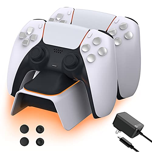 NexiGo PS5 Controller Charger with Thumb Grip Kit,...
