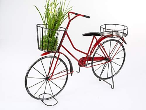 Großes Blumenfahrrad 65x45cm Fahrrad mit Blumenkorb Blumenständer Pflanzfahrrad