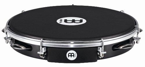 Meinl Percussion PA10ABS-BK-NH ABS Pandeiro mit Nappafell, 25,40 cm (10 Zoll) Durchmesser, schwarz