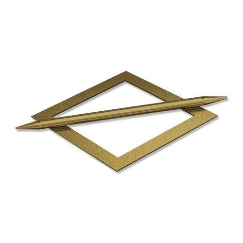 INTERDECO Raffspangen/Gardinenspangen (2 Stück) Messing Antik aus Metall, Avos Raute