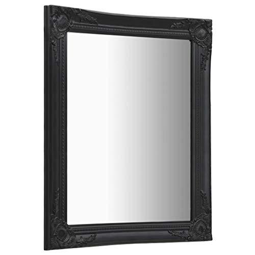 pedkit Espejos Decorativos Espejo de Pared Estilo Barroco Negro 60x80 cm