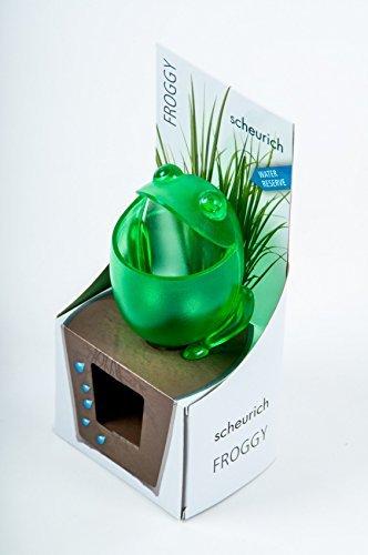 Scheurich Keramik Wasserspender Pflanzen Froggy Pflanzenbewässerung Wasserreserve Gartenhilfe (grün)