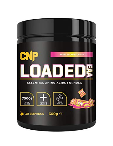 CNP Loaded EAA, Essential Amino Acid, Strawberry Laces, 300g, 30 Serving, EAA BCAA, Recovery & Repair of Muscle (Fruit Salad)