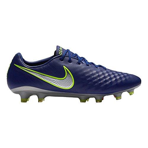 Nike Magista Opus II FG–Botas de fútbol para Hombre, Azul y Plateado
