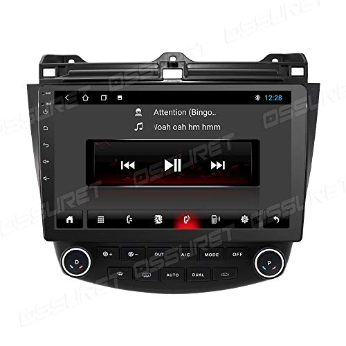 Radio del Coche 10.1 Pulgadas Sistema Multimedia del Coche para Honda Accord 7 2004 2005 2006 2007 Android 10 2GB RAM 32GB ROM Estéreo del Coche con WiFi 4G Enlace Espejo FM Bluetooth Audio Video