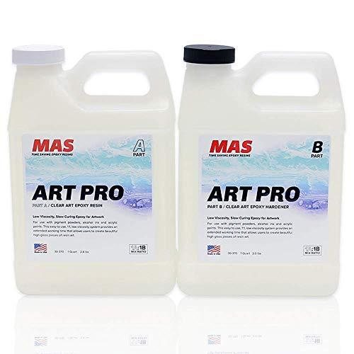 MAS Art Pro Epoxy Resin & Hardener | Two Part Art Resin...