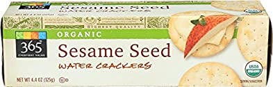 365 Everyday Value, Organic Sesame Seed Water Crackers, 4.4 oz