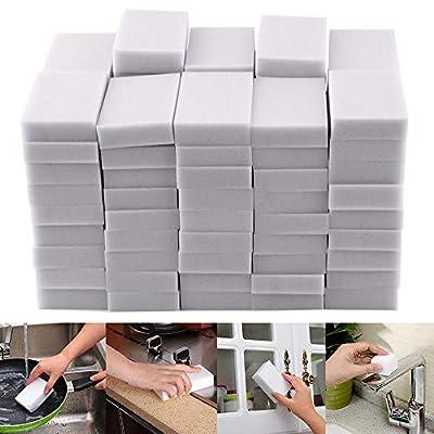 BOLUOYI 45Pcs Household Sponge Eraser Cleaner Home Kitchen Multi-Functional Foam Cleaner for Kitchen, Furniture, Car, Leather (40Pcs)