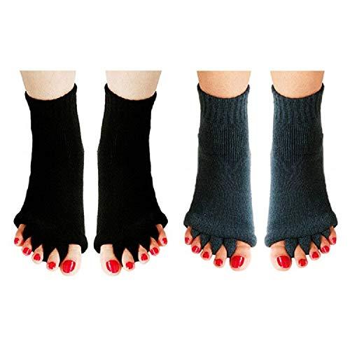 Zehenlose Socken für Yoga, Fitnessstudio, Sport, Massage, Fußausrichtung, Schmerzen, Mitgefühlssocken, verhindern Fußkrämpfe - - Einheitsgröße