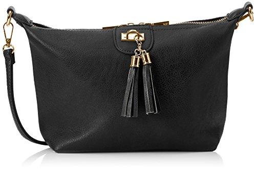 Swanky Swans Damen Caprice Shoulder Bag Umhängetasche, Schwarz (Black), 11x26x28 cm