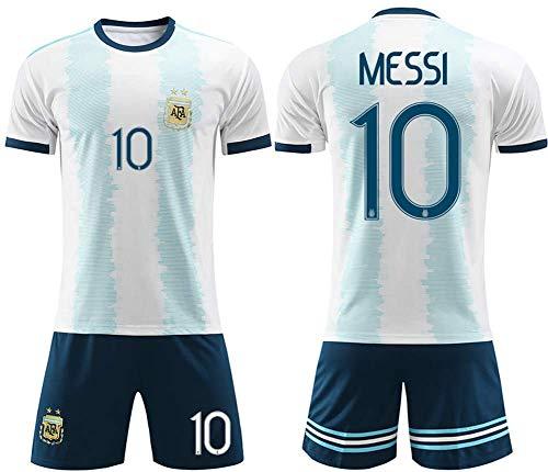 SIBEI 2.020 niños y niñas Jersey Adultos Infantil de fútbol Jersey de fútbol Jersey Traje de la Camiseta Argentina Inicio Messi Jersey Verano,Children Messi 16