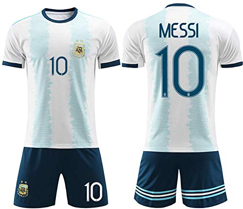 SIBEI 2.020 niños y niñas Jersey Adultos Infantil de fútbol Jersey de fútbol Jersey Traje de la Camiseta Argentina Inicio Messi Jersey Verano,Adult Messi XXL