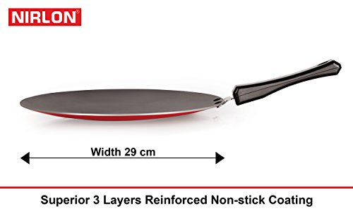 Nirlon Non-Stick Aluminium Cookware Set, 2-Pieces, Red/Black (2.6mm_FT13_CT12_64_3)