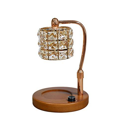 QLIGHA Crystal Wax Melt Warmer Quemador de Aceite eléctrico Wax Melt Ajustable en Altura y Brillo Lámpara de Calentador de Velas para el hogar, la Cocina, la Sala de Estar, el Dormitorio, el SPA