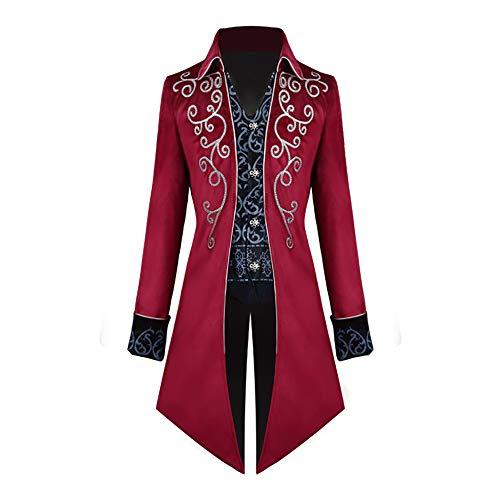 Mittelalterliche Steampunk-Frack Halloween-Kostüme für Männer Vintage Gothic Victorian Jacket Frock Coat