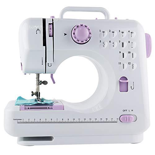 Máquina de coser eléctrica de USMEI, profesional, máquina de coser multifunción, 2 velocidades, máquina de coser para uso doméstico, Overlock, doble hilo con 12 puntos automáticos.