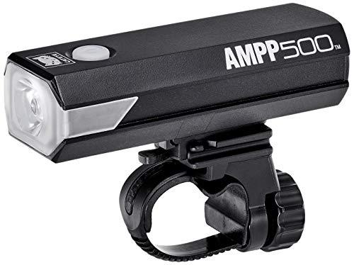 キャットアイ(CAT EYE) 自転車用ヘッドライト AMPP500 最大約500ルーメン USB充電式 コンパクトでありながら頑丈でパワフル 横からの視認性を高めたサイドレンズ採用 HL-EL085RC
