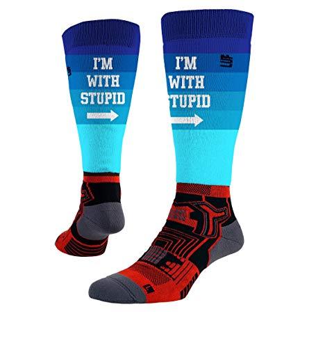 LUF SOX Socken Performance Ride Transform Stupid (Blau, 39-42)