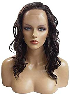 Women's Synthetic Lace Front Wig Long Deep Wave Black Natural Wigs Costume Wig