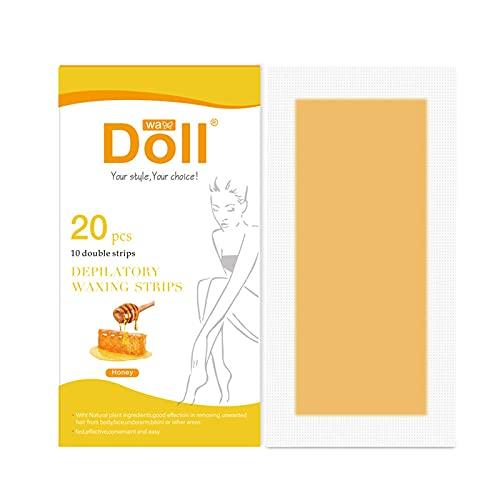 Simayixxch Tiras de cera para depilación para cara, brazos, piernas, axilas, bikini y calor brasileño, Amarillo, #
