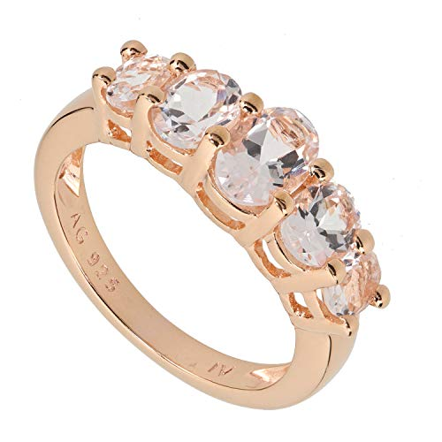 Harry Ivens Damen Ring 925/000 Sterlingsilber vergoldet Morganit RW16