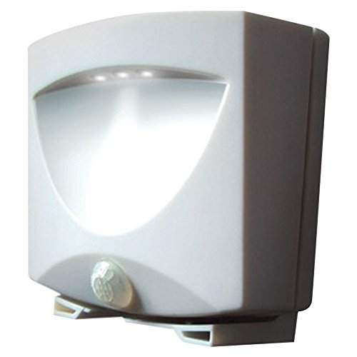 Maxsa Innovations Battery-Powered Motion-Activated Outdoor Night-Light (White)