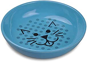 Van Ness ECOWARE Cat Dish,Pacific Blue, 8 Ounce, Single Dish (ECW20) (Color may vary)