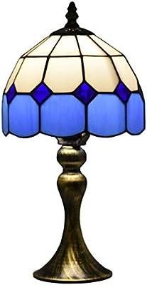 Bieye L30041 Lámpara de mesa estilo mediterráneo de Tiffany ...