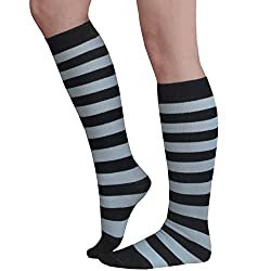 black and white knee high socks