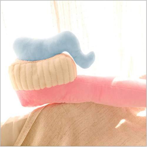 Mr. Xiong 3D Zahnbürste Kissen Kreatives Großkissen, Plüschgestüt Toy Doll Figur Zahnbürste Plush Toy Geschenk für Kids Girls Boys Kinder,Pink,90CM