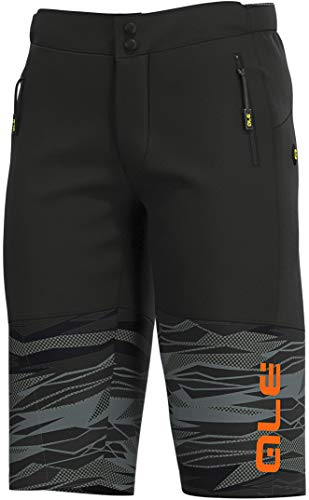 Alé Cycling Off-Road MTB Rock Shorts Heren Zwart/Fluo Oranje 2020 Fietsbroek