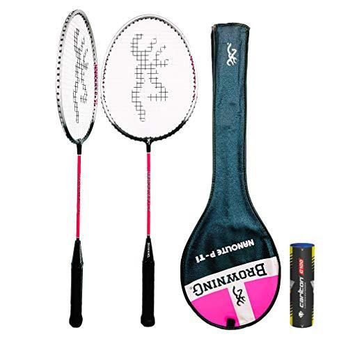 Browning Nanolite Pink Ti Badminton Racket Various Options Racket Shuttles