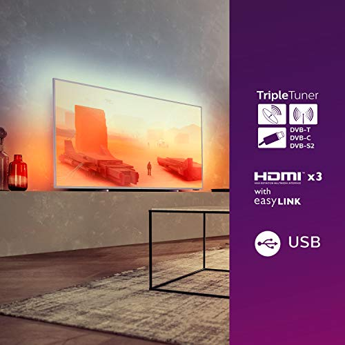 Philips 75PUS7855/12 LED-Fernseher, silber, UltraHD/4K, WLAN, Ambilight, Dolby