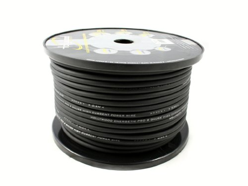Hollywood Energetic 10mm2 OFC Stromkabel - Powerkabel, Farbe:schwarz