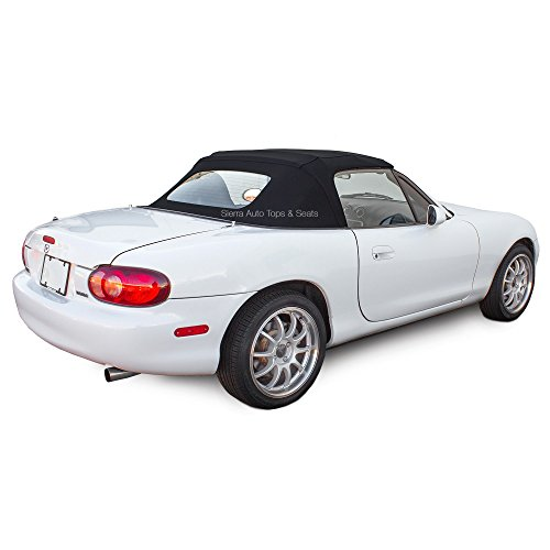 Sierra Auto Tops Mazda Miata Convertible Soft Top, fits 1990-2005, Direct Replacement, Stayfast Canvas, Black