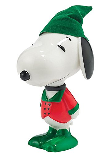 Dept 56 Snoopy by Design Holiday Village Porcelain Figurine (Holly Jolly Hound)