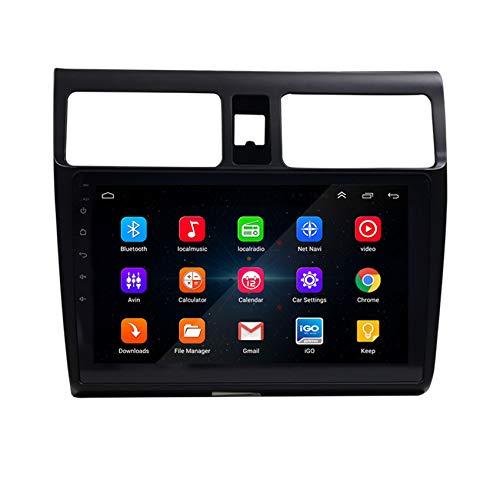 Amimilili Autoradio Radio De Coche para Suzuki Swift 2005-2010 Navegación GPS Estéreo De Radio WiFi Pantalla Táctil De La Cámara Trasera Bluetooth FM Mandos del Volante,4 Cores WiFi:1+16g