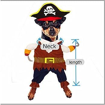Costume pour chien/chat avec chapeau Pirates des Caraïbes.