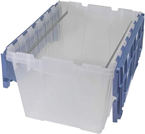 Akro-Mils Plastic Storage Container 12 Gallon KeepBox File Box with Hinged Attached Lid and Rails for Hanging File Folders, 21-1/2'' by 15'' by 12-1/2'' (.1-Pack (21-1/2'' by 15'' by 12-1/2''))