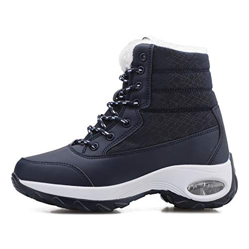 [WYSBAOSHU] [Amazon限定ブランド]レディース スノーブーツ 裏ボア 防寒靴 エアクッション 滑り止め 厚底 雪用 保暖 コンフォートシューズ 雪用ブーツ 冬靴 ショート ブーツ
