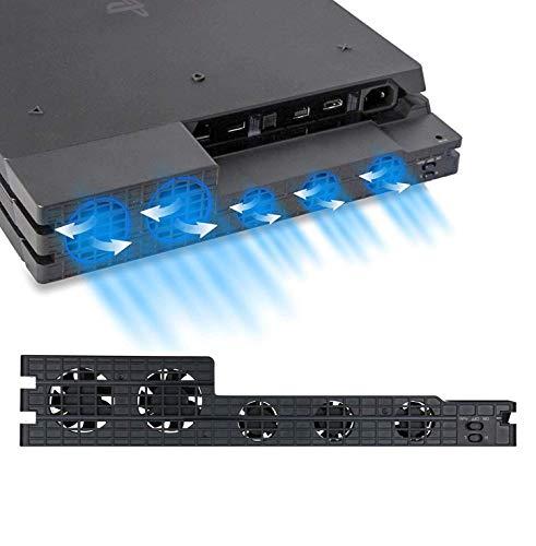 EEEKit PS4 Pro Turbo Cooling Ventilador - Refrigerador USB Externo con Sensor de Temperatura automático Radiador controlado por Escape de Calor para la Consola Sony Playstation 4 Pro