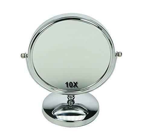 Fantasia Miroir sur pied en métal Grossissement x10 Argenté