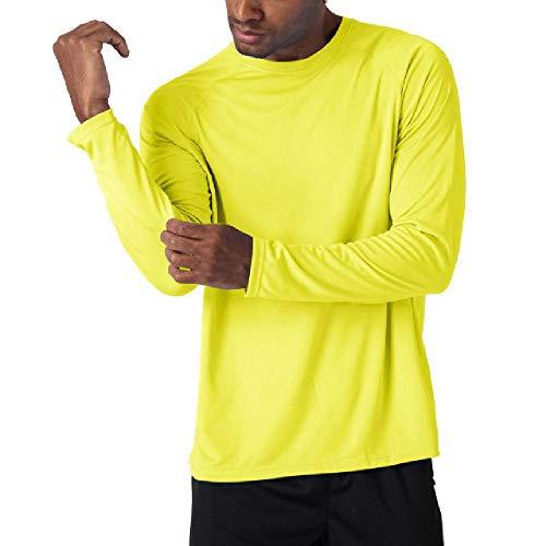 N\P Camiseta de protección solar para hombre, manga larga, rendimiento de secado rápido, transpirable, senderismo