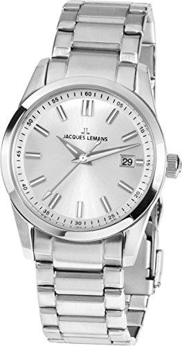 Jacques Lemans Liverpool–Reloj de Pulsera analógico de Cuarzo Acero Inoxidable 1–1868b