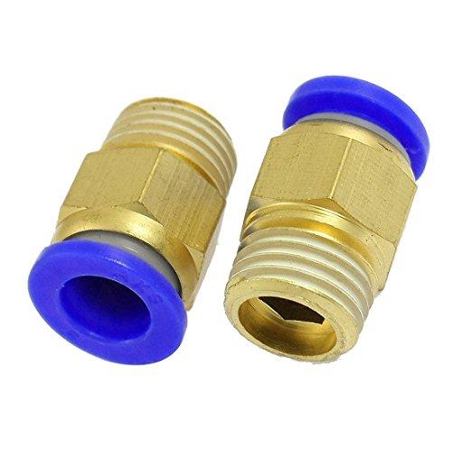 sourcing map 5 piezas de tubo de 8 mm 1/4'PT hilo de latón conector rápido accesorios de aire neumáticos