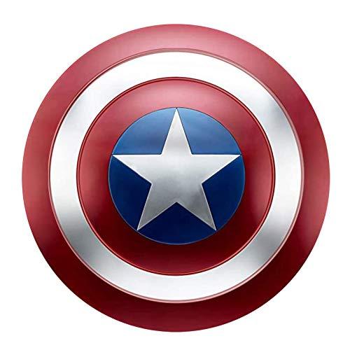 Capitan America Scudo Metallo Supereroe Scudo 1 a 1 47.5cm Puntelli per Adulti